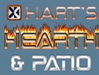 Hart's Hearth and Patio Logo