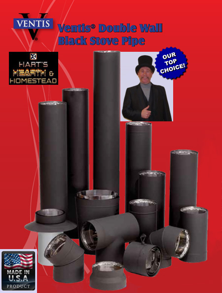 VENTIS Double Wall Stovepipe  sc 1 st  Hartu0027s Hearth u0026 Homestead & VENTIS Double Wall Stovepipe - Hartu0027s Hearth u0026 Homestead